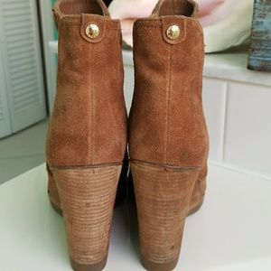 Michael Kors suede leather ankle boots